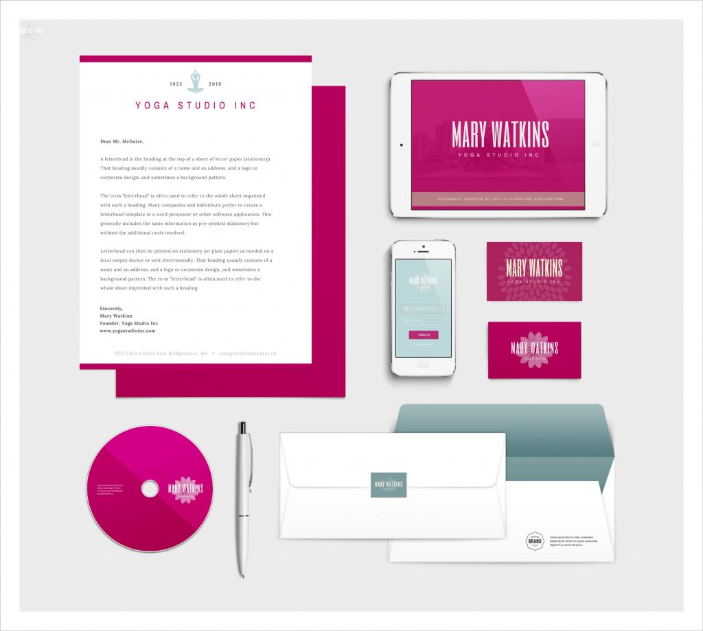 Mockup Stationery Design with Canva