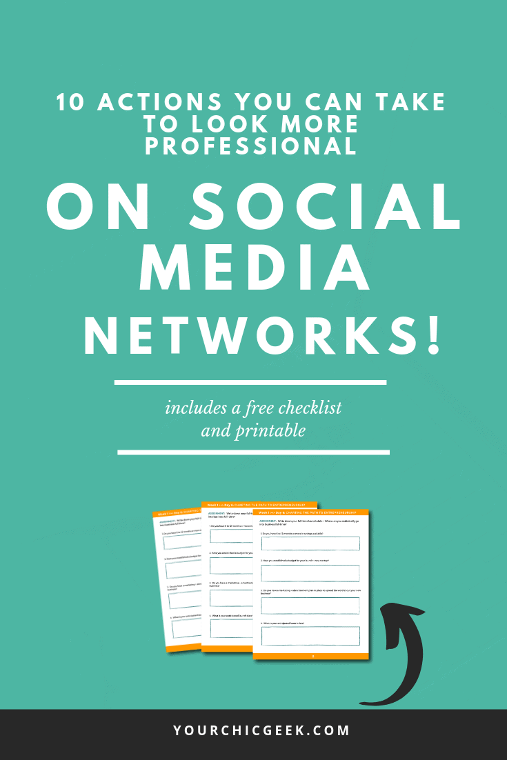 look professional on social media networks