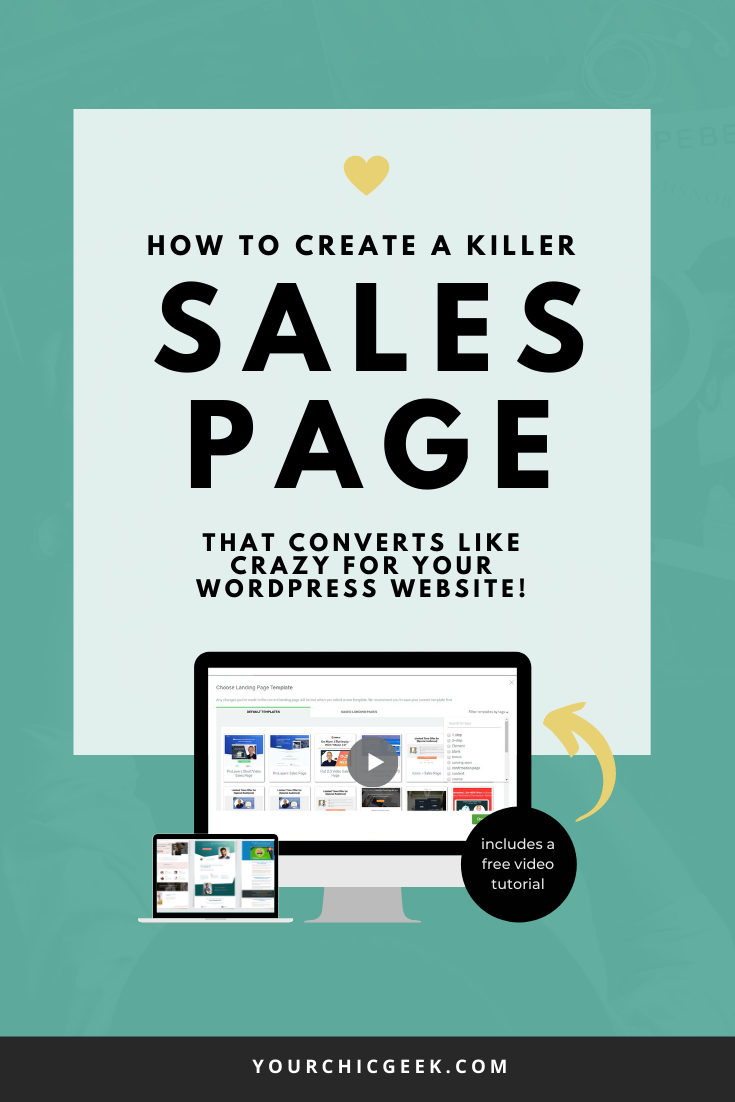 How to create a sales page in wordpress