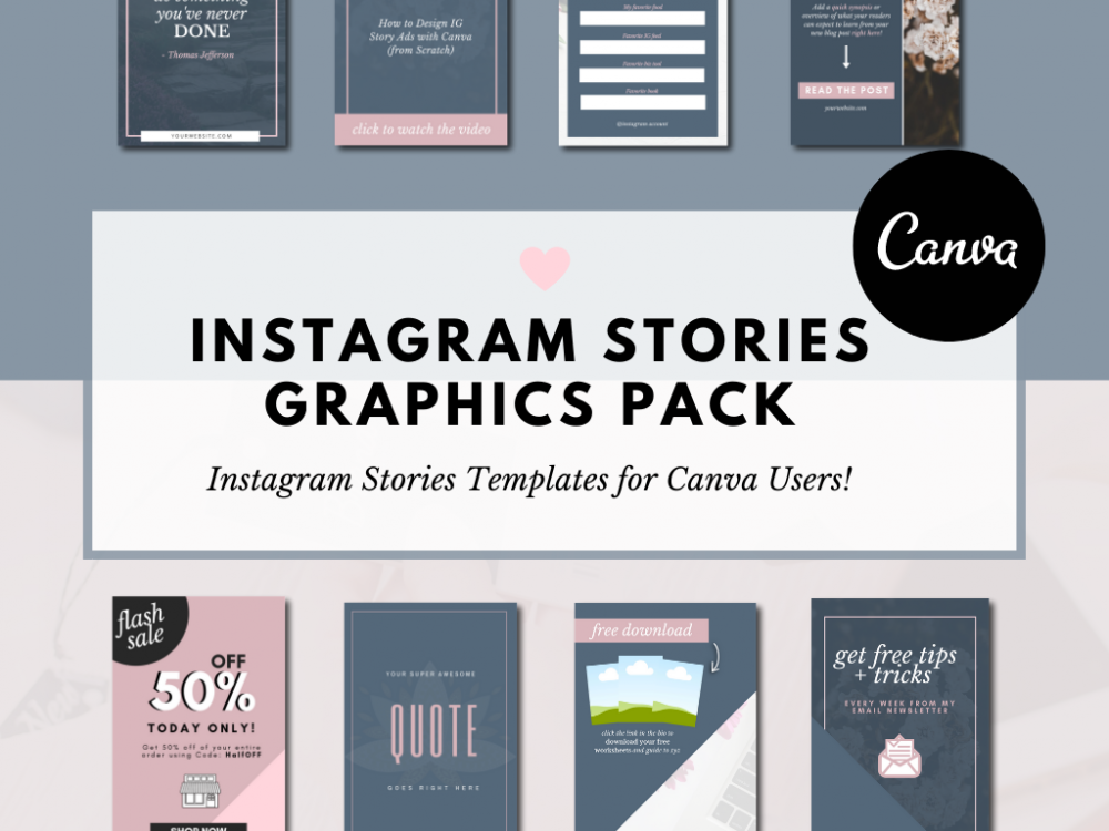 Instagram Stories Templates for Canva users