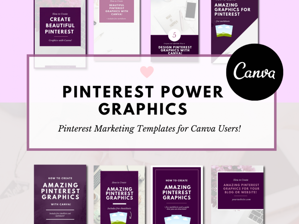 Pinterest Marketing Templates and Graphics for Canva