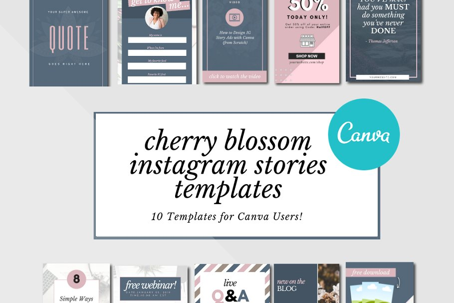 IG Stories Templates for Canva