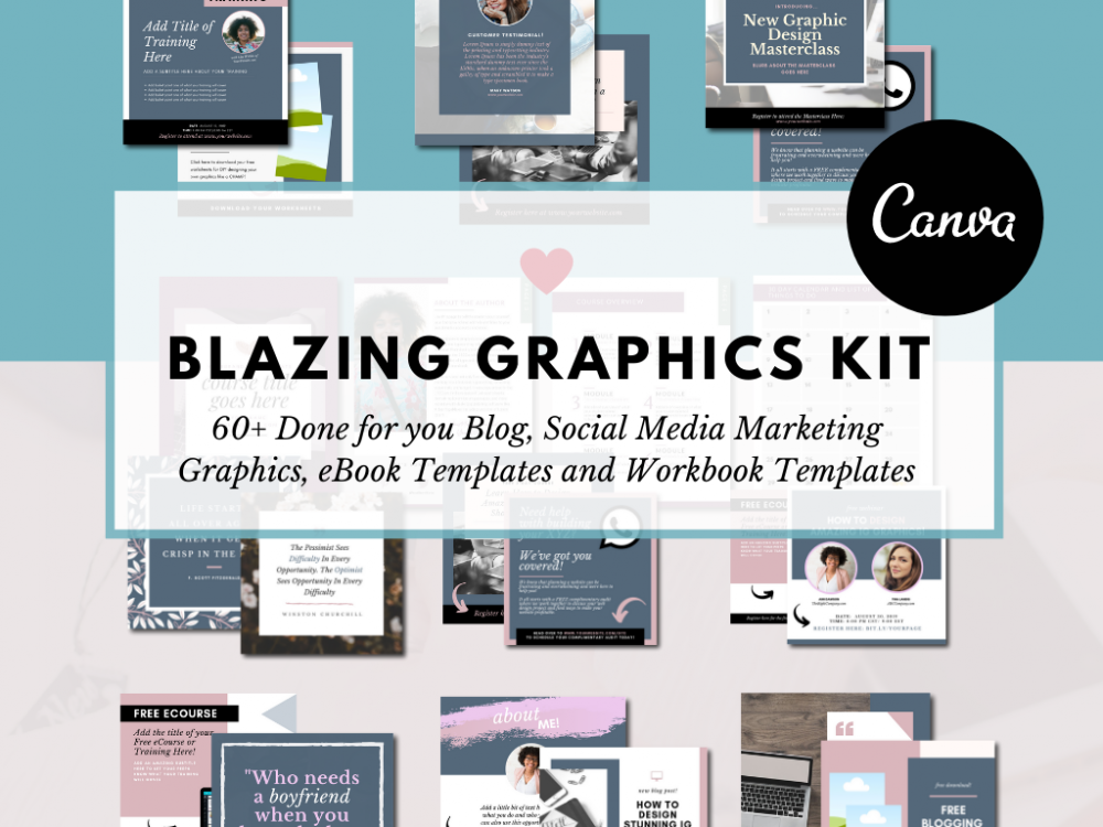 Canva Graphics Set for bloggers, solopreneurs and entrepreneurs