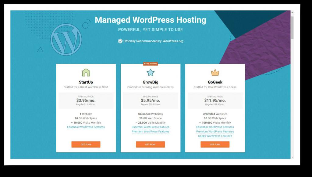 Siteground WordPress Blog Hosting
