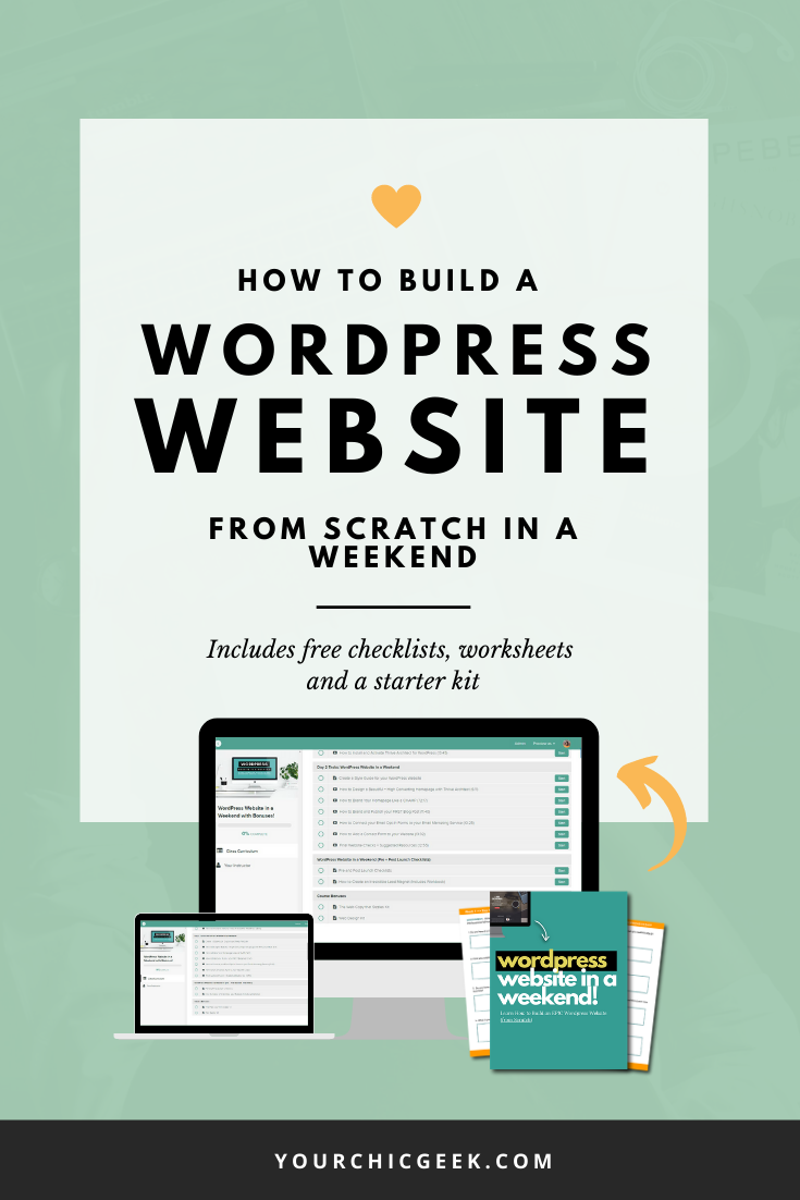 How to Build a WordPress Website From Scratch Weekend