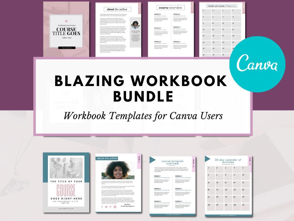 Canva Workbook Templates Bundle