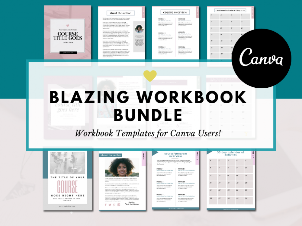 Canva Workbook Templates for canva users