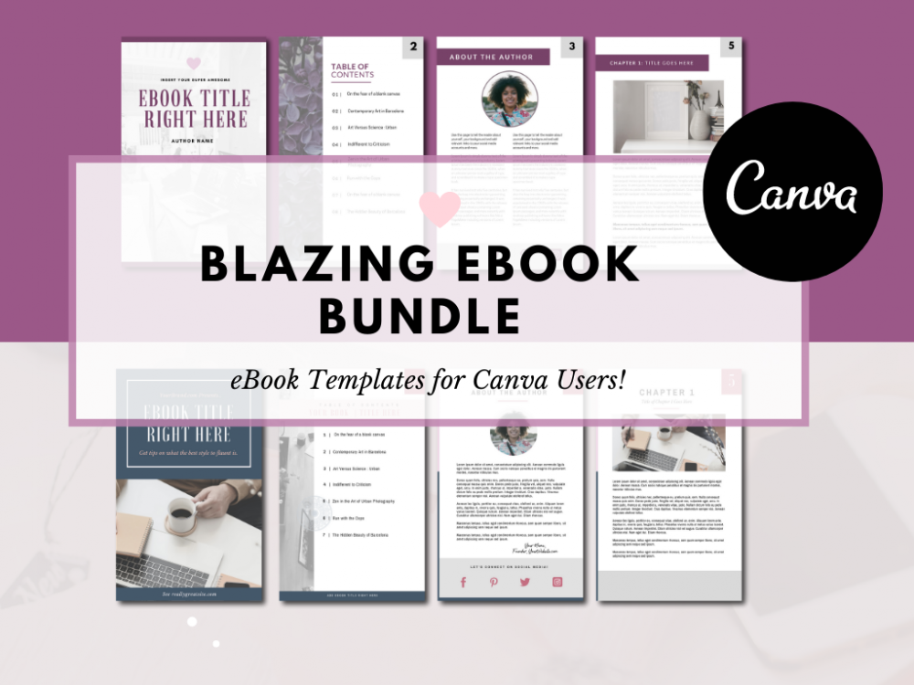 Canva eBook Templates Ready Made