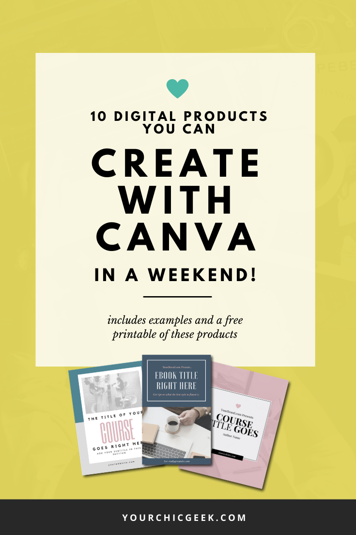 Digital Products you can create with Canva