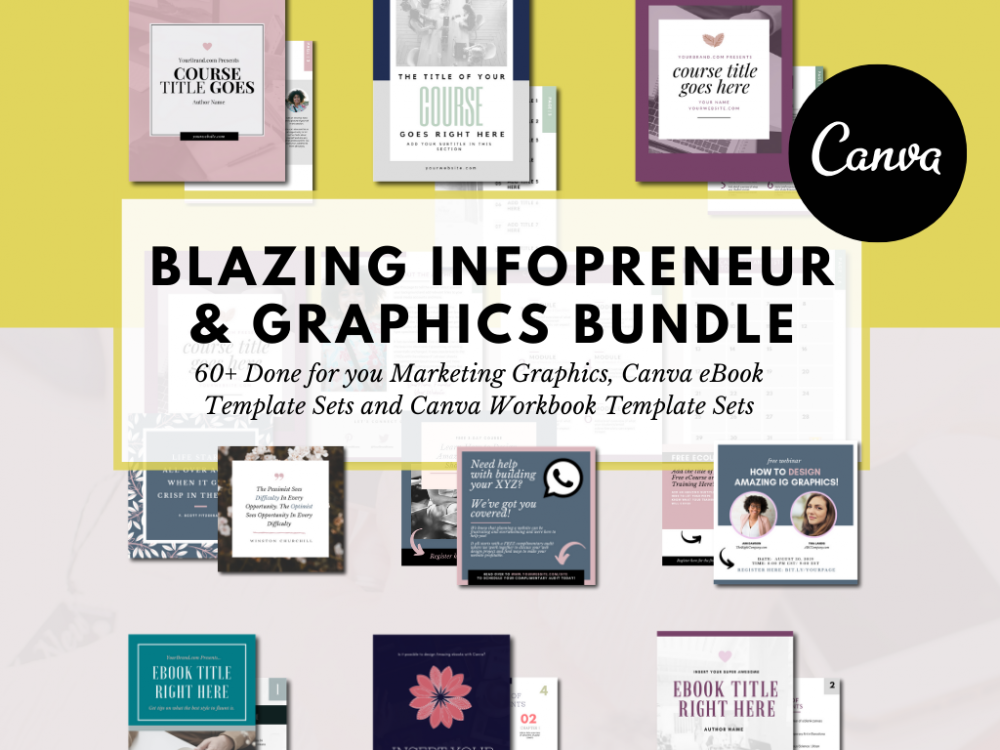 Canva Infopreneur and Social Media Marketing Graphics Bundle