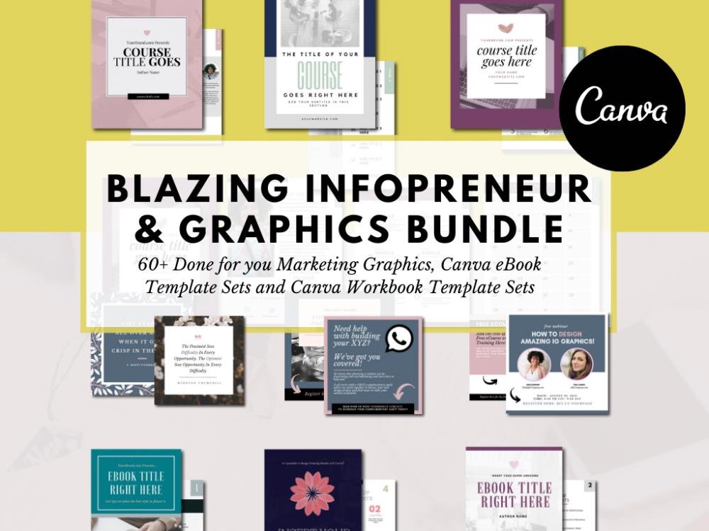 Canva Infopreneur and Social Media Marketing Graphics Bundle
