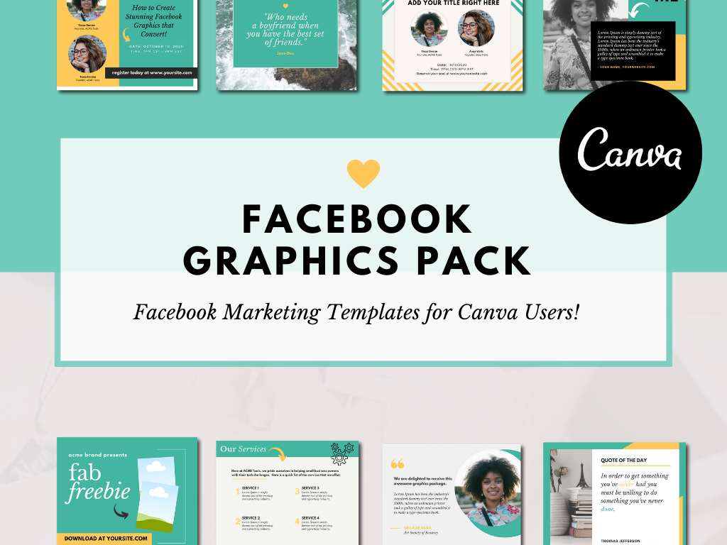 Facebook Marketing Graphics for Canva